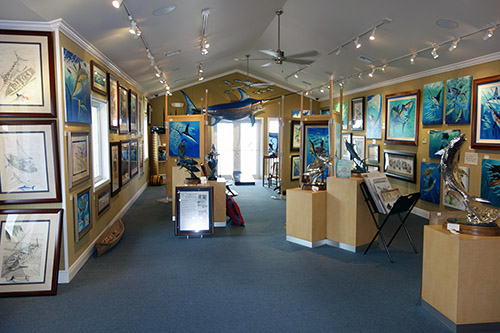 Guy Harvey Gallery and Shoppe in Grand Cayman Islands, a tender port from Royal Caribbean's Navigator of the Seas on our Caribbean Cruise vacation