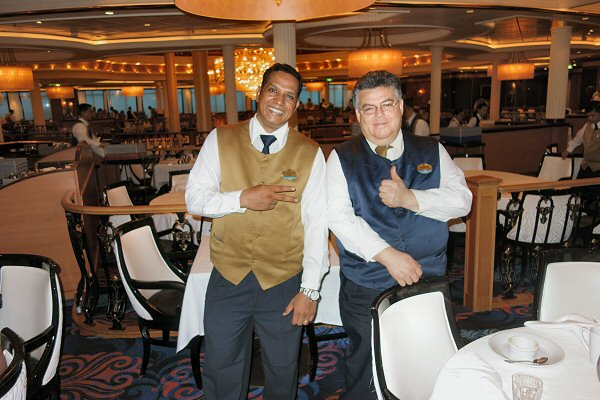 Jorge and Oneill took great care of us in the Sapphire Room, the main dining room on Royal Caribbean's Navigator of the Seas on our Caribbean Cruise vacation