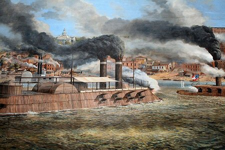 Vicksburg Mural at Vicksburg Mississippi - family travel photograph