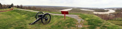 View from Camp Hill at Vicksburg National Military Park - family travel photograph