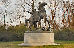 General Tilghman Monument in Vicksburg family travel photograph